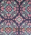 Soft N Comfy Fabric 57\u0022-Navy Orchid Damask