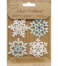Jolee\u0027s Boutique Christmas Stickers-Fun Felt Snowflakes