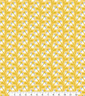 Cloud 9 Premium Quilt Cotton Fabric 44\u0027\u0027-Leaves on Yellow