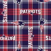 "New England Patriots Fleece Fabric 58""-Plaid, , hi-res"