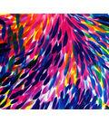 ITY Knit Poly Spandex Fabric-Navy Fuchsia Petals