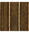 Franklin Brown Rustic Pine Wood Wallpaper Sample