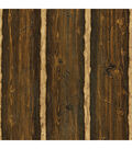 Franklin Brown Rustic Pine Wood Wallpaper