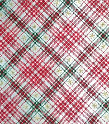 "Sew Sweet Decorating Plaid Satin Fabric 58""-Red & Green"