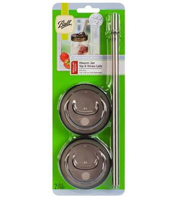 Ball Sip & Straw Lids 4/Pkg Regular Mouth