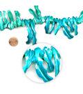 Blue Moon Beads 7\u0022 Strand Shell Stick, Blue