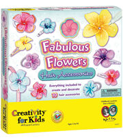 Creativity For Kids Fabulous Flowers Hair Accessories Kit, , hi-res