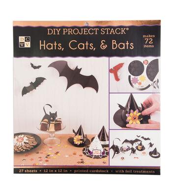 """DCWV 12""""x12"""" DIY Project Stack-Hats, Cats & Bats"""