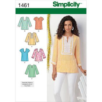 Simplicity Pattern 1461BB 20W-28W -Misses Tops Vests