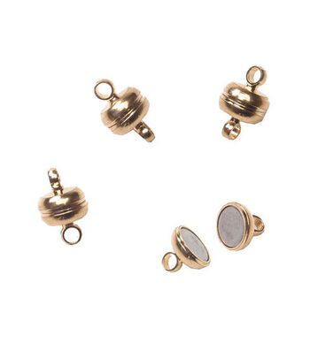 Darice® 7mm Magnetic Clasps-3 clasps/Gold