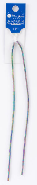 Blue Moon Beads Strand 14\u0022Glass Tube, Frosted AB