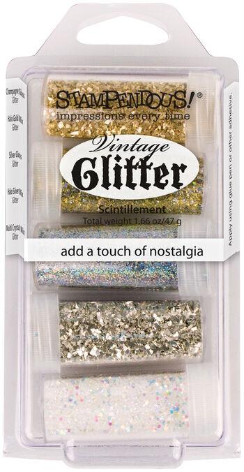 Stampendous Vintage Glitter Set 5pc