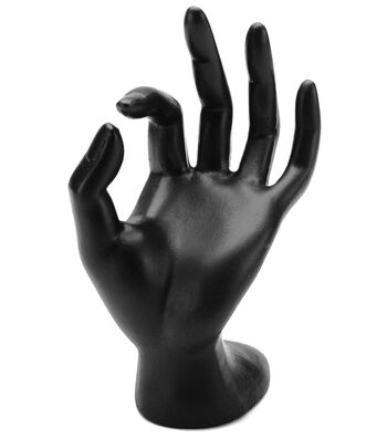 Darice Polyresin Hand Form Display Black