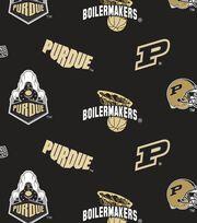 """Purdue University Boilermakers Fleece Fabric 58""""-All Over, , hi-res"""