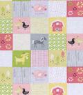 Nursery Flannel Fabric 42\u0022-Farm Patch