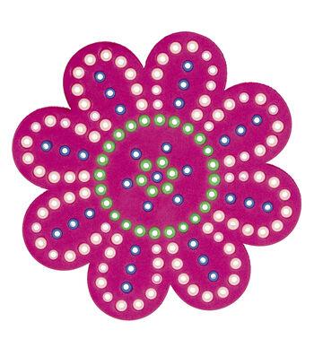 Pink Beaded Mosaic Foam Flower