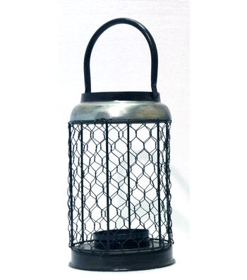 Hudson 43 Farm Large Chicken Wire Candle Holder