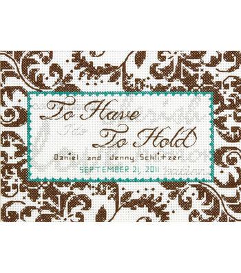 "Treasured Words Wedding Record Mini Counted Cross Stitch Kit-7""X5"""