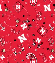 "University of Nebraska Cornhuskers Cotton Fabric 43""-Bandana, , hi-res"