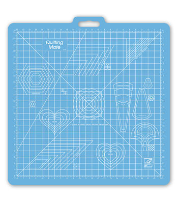 "June Tailor Rotary Mat Templates With 23"" x 23"" Grid"