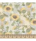 Susan Winget Cotton Fabric-Goldfinch Sunflower Patch