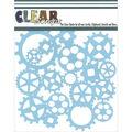 Clear Scraps 6\u0027\u0027x6\u0027\u0027 Plastic Stencil-Gears