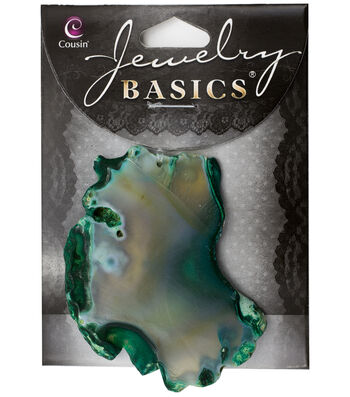 Cousin® Jewelry Basics Agate Slice Accent-Green