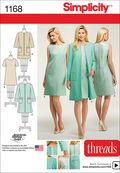 Simplicity Pattern 1168U5 16-18-20-2-Dresses