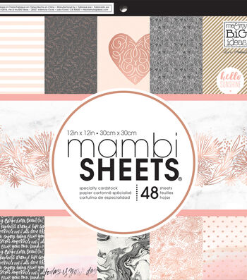 "Mambi Single-Sided Paper Pad 12""X12""-Rose Gold"