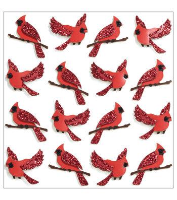 Jolee's Mini Repeats Stickers-Cardinal