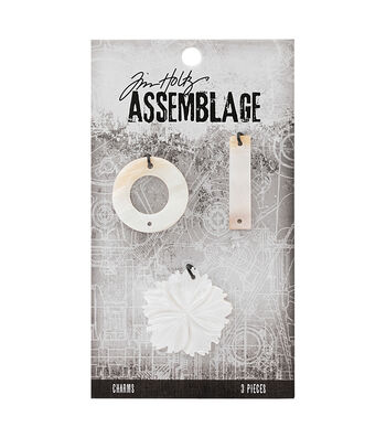 Tim Holtz® Assemblage Pack of 3 Shell Flower & Links Charms