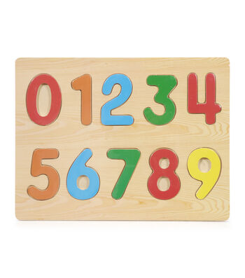 Busy Kids Learning Puzzled Raised Puzzle-Numbers