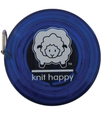"Knit Happy Tape Measure 60""-Blue"