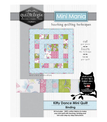 "Quiltologie Mini Mania Quilt Kit 18 1/2""-Kitty Dance"