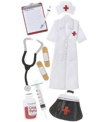 Jolee's Boutique Le Grande Dimensional Sticker-Nurse