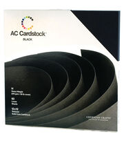 American Crafts 12''x12'' Cardstock Packs-60PK, , hi-res
