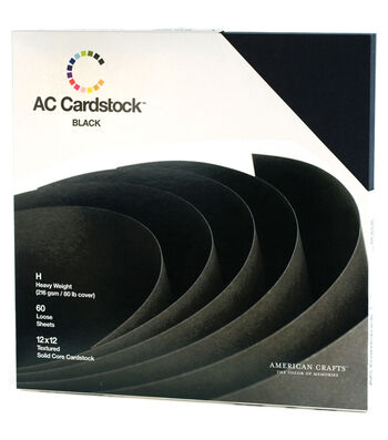 American Crafts 12''x12'' Cardstock Packs-60PK
