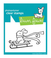 "Lawn Fawn Clear Stamps 3""X2""-Winter Bunny, , hi-res"