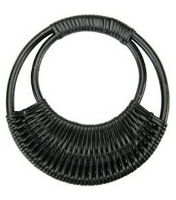 "7-1/16"" Diameter Rattan Purse Handle-Black"