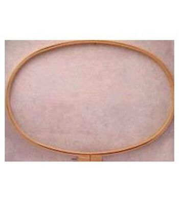 """Wood Quilt Hoop 12""""X20"""" Oval-3/4"""" Depth"""