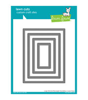 Lawn Fawn Lawn Cuts Custom Craft Die-Large Stitched Rectangle, , hi-res