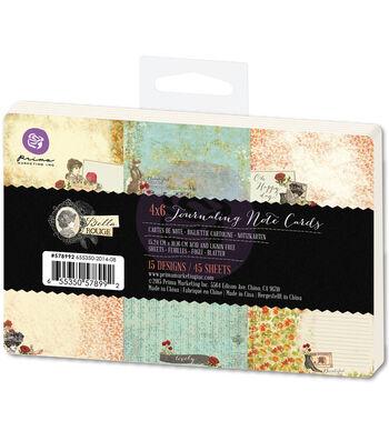 Prima Marketing Bella Rouge Journaling Notecards Pad 4''x6''