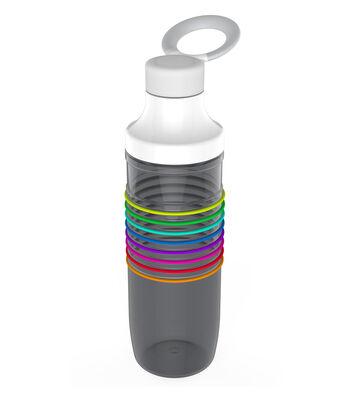 HydraTrak Chug 24oz Water Intake Calculator Bottle-Ghost