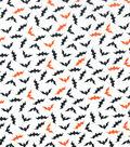 Holiday Showcase™ Halloween Cotton Fabric 43\u0027\u0027-Mini Bats on White