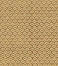 Vintage Cotton Fabric 43\u0022-Floral Scallops Gold