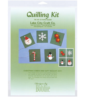 Lake City Crafts Quilling Kit-Christmas Cards & Tags