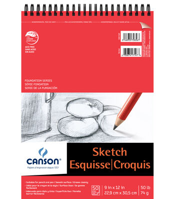 Canson® 50 Sheets 9''x12'' Foundation Series Sketch Pad