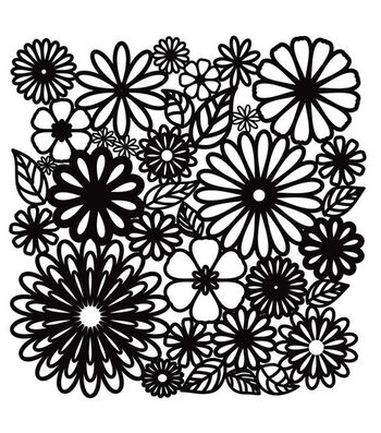 """Crafter's Workshop 12""""x12"""" Template-Flower Frenzy"""