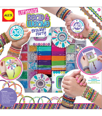 Alex Toys Ultimate Bead & Weave Bracelet Party Kit