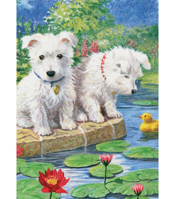 "Royal Brush 5""x7"" Colour Pencil By Number Kit-Westie Pup"